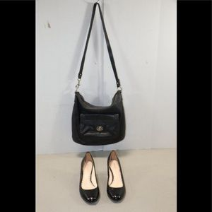 Black Coach Purse bag & Black Coach Heels Sz.7.5B